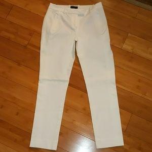 J crew white Maddie slacks size 2 skinny leg